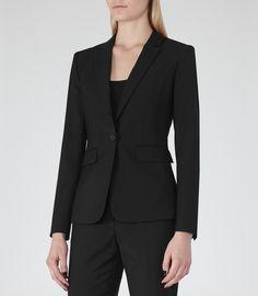 Elia Jacket SINGLE-BREASTED BLAZER, suit for work, black pant suit, women's suit, interview suit, business professional suit