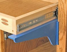 kreg drawer mounting brackets Easily supports drawers during installation and mounting of full extension drawer slides. Readily clamps to face frames for support.