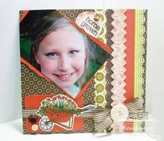 Home Grown 8x8 Scrapbook Page  lil' punkin
