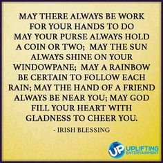 Lovely blessing...