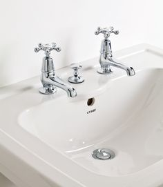 These classic Admiral Pillar taps are exclusive to C.P. Hart. The design was inspired by by a ship's wheel and will at home in any traditional bathroom.