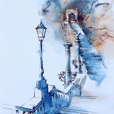 """#Budapest #ig_budapest #igbudapest #topcreator #drawing #ink #art #arqsketch #architecture #sketch #sketchbook #urbansketch #usk #travel #inspiration…"""