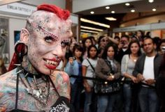 very ugly Very Ugly, Scary Things, Crazy People, Being Ugly, Halloween Face Makeup, Tattoo, Creepy Things, Tattoos, Tattos