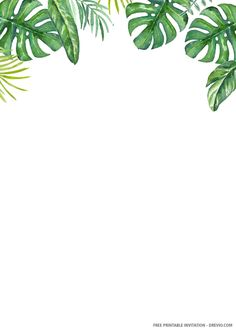 Free Printable Birthday Invitations, Wedding Invitation Templates, Wedding Invitations, Disney Invitations, Palm Wedding, Plant Wallpaper, Safari Theme, Flower Frame, Wall Art Designs