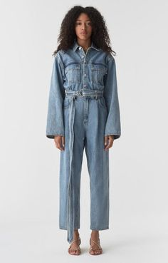 df1c396b8d Agolde oversized Tatum denim jumpsuit lark wash made USA
