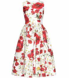 Printed cotton and silk dress | Dolce & Gabbana
