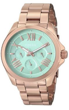 #Fossil Women's AM4540 Cecile Analog Display Analog Quartz Rose gold #Watch