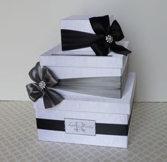 card boxes wedding silver - Google Search