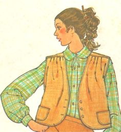 Simplicity Skirt Vest Pattern 8904 sizes 6 and 8 by SewReallyCute, $6.00
