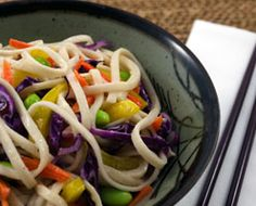 Chilled #Thai Sesame #Noodle #Salad #Recipe | Citizen Chef Sesame Noodle Salad, Glass Noodle Salad, Sesame Noodles, Easy Salads, Easy Meals, Thai Coconut, Meatless Monday, Spicy, Cabbage