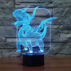 Pterosauria Dragon Novelty Gifts 7 Colors Changing Animal Led Night Lights LED Desk Table Lamp as Home Decoration Best Night Light, The Good Dinosaur, Kids Lighting, Led Lampe, Novelty Gifts, House Rooms, Plant Hanger, Color Change, Best Gifts