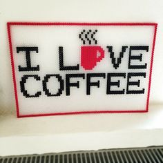 I Love Coffee hama perler beads by 271182 - Pattern: http://www.pinterest.com/pin/374291419004446544/