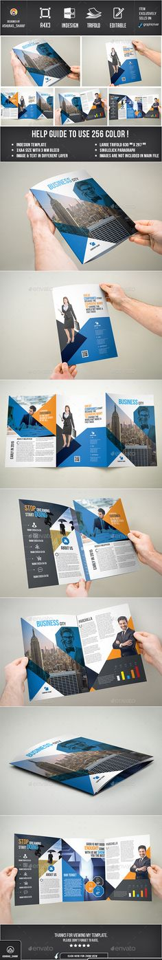 Trifold Brochure  —  InDesign Template