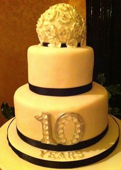 10 Year Wedding Anniversary Ideas | Traditional Rum Cake - a rich dark fruit cake with almond marzipan and ...