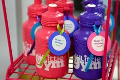 "Love the water bottle idea Brilliantly Beautiful Events: Real Birthdays: ""Little Gym"" Birthday Party - by BB Events Bouncy Ball Birthday, 3 Year Old Birthday Party, Little Girl Birthday, Baby Birthday, Birthday Party Themes, Birthday Ideas, 55th Birthday, Toddler Party Favors, Crossfit"