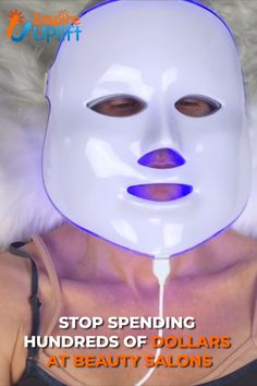 LED spa facial mask tools are actually treatments that eliminate several skin concerns—like inflammation and hyper-pigmentation. Spa Facial, Facial Masks, Facial Scrubs, Facial Cleanser, Skin Care Regimen, Skin Care Tips, Face Care, Body Care, Beauty Care