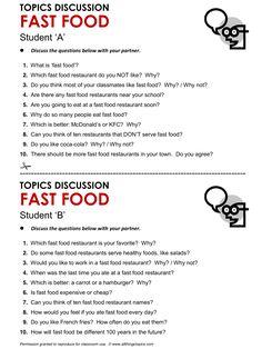 Fast Food, English, Learning English, Vocabulary, ESL, English Phrases, http://www.allthingstopics.com/fast-food.html