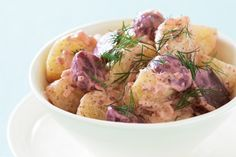 Spice up a traditional favourite with this mustard flavoured potato salad.