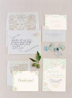 green and brown nude wedding colors inspired country rustic wedding invitations