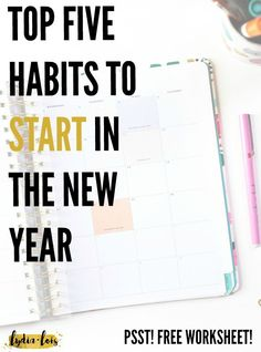 In the New Year we are all looking for resolutions, goals, plans, and habits to start. With so much information out there it is hard to know where to start! I've narrowed it down to the top five habits to start in the new year, especially if you are in your twenties! Click through to get my tips and free printable worksheet!