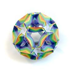 Easy #origami #kusudama #rainbow