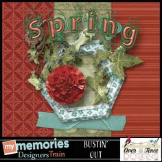 Pick up this Bustin' Out Freebie by #OverTheFenceDesigns.  It's part of the #MyMemories blog train in March