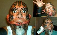 Mr. Lobes In This Picture: Photo of man with tattoos and piercings