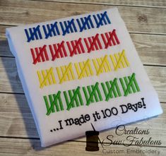 100 Days of School Shirt  100 Days Smarter by CreationsSewFabulous