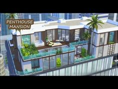 Sims 4: Speed Build | Skyview Penthouse (City Living) - YouTube