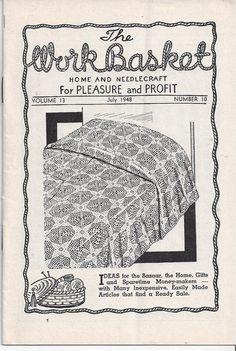 The WorkBasket Home & Needlecraft Book July by VictorianWardrobe, $4.00