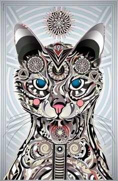 Matei Apostolescu: artes de felinos psicodélicos | El Poder de las ...