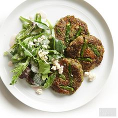 Asparagus Falafel;  These were great!