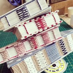 #danifoxbookbinder  - beautiful handmade journals with exposed stitching by bookbinder Dani Fox