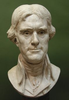"""Thomas Jefferson"" sculpture by Zenos Frudakis. Thomas Jefferson, an American Founding Father, was the principal author of the Declaration of Independence and the third President of the United States Location: Private collection. Freedom Sculpture, Sculpture Head, Thomas Jefferson, Early American, Male Face, Sweet Life, American History, Sculpting, Presidents"