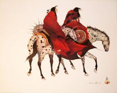 The Loss Carol Grigg Print Ethnic Native American Horses Southwest Poster for sale online Native American Horses, Native American Paintings, Native American Artists, Native American History, Indian Paintings, Southwestern Art, Southwestern Paintings, Southwest Style, American Indian Art