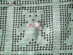 Foto do ursinho da manta de crochet