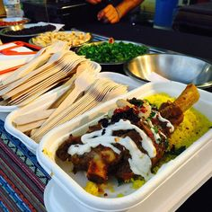"""Lamb shanks with couscous and roasted almonds  // I love """"don't cook Monday"""" market"""