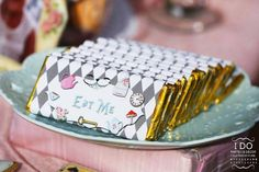 Candy bars from a Vintage Alice in Wonderland Birthday Tea Party on Kara's Party…