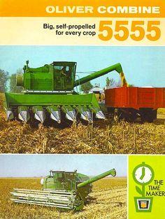OLIVER 5555 Combine Ad