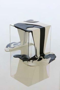 Poured resin side table by Kelly Behun