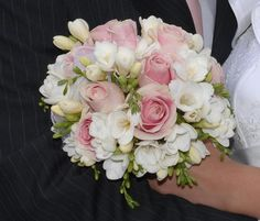 fresias and roses