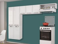 Cozinha Compacta Itatiaia Rose - 7 Portas Aço Branco << R$ 28405 em 5 vezes >>