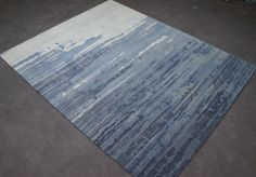 8 x 10 Abstract Design Wool Handmade Rug Blue Color Hand Tufted Carpet Rug  #ChikooHomeAccents #Contemporary