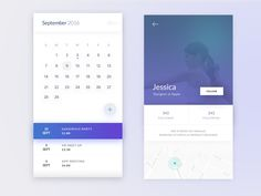 Calendar & Profile by Mammad Emin #Design Popular #Dribbble #shots