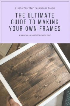 This is a quick easy farmhouse frame tutorial. We will walk you through exactly how to create your own frame for signs, decor, and more. #diypallet