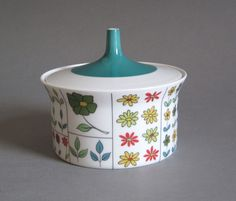 Thomas of Germany Coffee Pot Mid Century 1959 Hans-Theo Bauman Design,Flowers