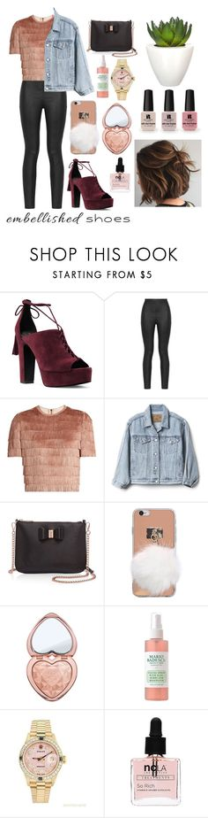 """""""Untitled #212"""" by badrainbow on Polyvore featuring Michael Kors, Armani Jeans, Raey, Gap, Ted Baker, Too Faced Cosmetics, Rolex, Victoria's Secret, ncLA and Pomax"""