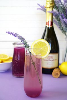 Lavender Lemonade Prosecco Cocktail - Happiness is Homemade