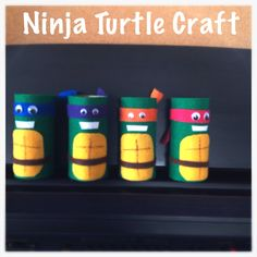 Toilet paper roll Ninja Turtle felt craft