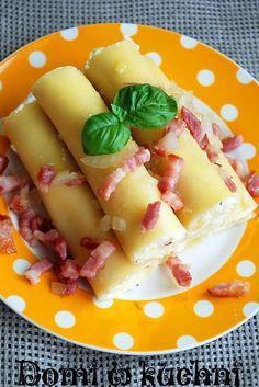 CANELLONI Z NADZIENIEM RUSKIM Porcja dla 2 osób: •10… Hawaiian Pizza, Bon Appetit, Fruit Salad, Food And Drink, Cheese, Cooking, Roman, Dinners, Polish